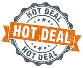 Hot deal vintage orange seal isolated on white — ストック写真