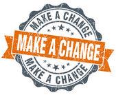 Make a change vintage orange seal isolated on white — Stock Photo