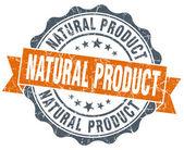 Natural product vintage orange seal isolated on white — Stockfoto