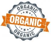 Organic vintage orange seal isolated on white — Stockfoto
