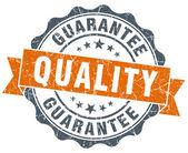 Quality guarantee vintage orange seal isolated on white — Stockfoto