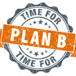 Time for plan b vintage orange seal isolated on white — Foto Stock #64458537