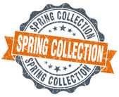 Spring collection vintage orange seal isolated on white — Stock Photo