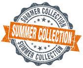 Zomer collectie vintage oranje zegel geïsoleerd op wit — Stockfoto