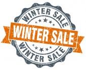 Winter sale vintage orange seal isolated on white — Foto de Stock