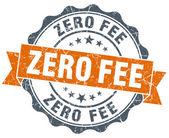 Zero fee vintage orange seal isolated on white — Foto de Stock
