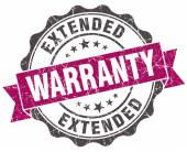 Extended warranty grunge violet seal isolated on white — Stock Photo