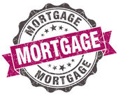 Mortgage grunge violet seal isolated on white — Foto de Stock