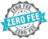 Zero fee vintage turquoise seal isolated on white — Foto de Stock