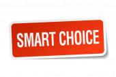 Slimme keuze Rode plein sticker geïsoleerd op wit — Stockvector