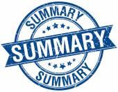 Summary grunge retro blue isolated ribbon stamp — Stock Vector