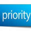 Priority blue paper sign on white background — Stock Vector #72528999