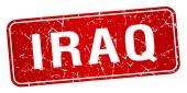 Irak rode stempel geïsoleerd op witte achtergrond — Stockvector