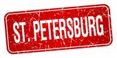 St. Petersburg red stamp isolated on white background — Cтоковый вектор