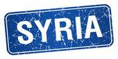Selo azul Síria isolado no fundo branco — Vetor de Stock