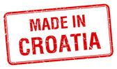Made in Croatia red square isolated stamp — Stock Vector
