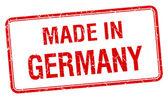 W Niemczech czerwony kwadrat na białym tle stempel — Wektor stockowy