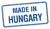 Made in Hungary blue square isolated stamp — Stock Vector