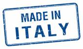 Made in Italy blue square isolated stamp — Stock Vector