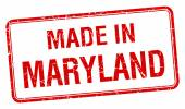 Made in Maryland red square isolated stamp — Wektor stockowy