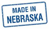 Made in Nebraska blue square isolated stamp — Stock Vector