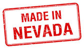 Made in Nevada red square isolated stamp — Stock Vector