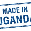 Made in Uganda blue square isolated stamp — Stock Vector #75451387