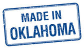 Made in Oklahoma blue square isolated stamp — Stock Vector