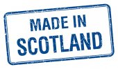 Made in Scotland blue square isolated stamp — Stock Vector