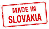 Made in Slovakia red square isolated stamp — Stock Vector
