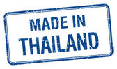 Made in Thailand blue square isolated stamp — Stockvektor