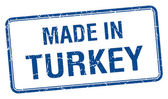 Made in Turkey blue square isolated stamp — Stock Vector