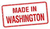 Made in Washington red square isolated stamp — Stock Vector