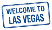 Welcome to Las Vegas blue grunge square stamp — Stockvektor