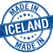 Made in Iceland blue round vintage stamp — Stock Vector #76261943