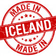 Made in Iceland red round vintage stamp — Stock Vector #76261951