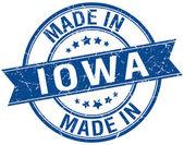 Made in Iowa blue round vintage stamp — Stock Vector