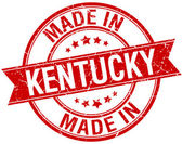 Made in Kentucky red round vintage stamp — Vector de stock
