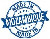 Made in Mozambique blue round vintage stamp — Stockvektor