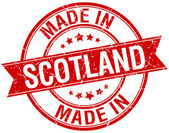 Made in Scotland red round vintage stamp — Vettoriale Stock