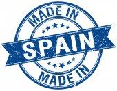 Made in Spain blue round vintage stamp — Stockvector