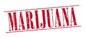 Marijuana red grunge vintage stamp isolated on white background — Vettoriale Stock