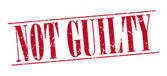 Not guilty red grunge vintage stamp isolated on white background — Cтоковый вектор