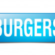 Burgers blue square 3d realistic isolated web button — Stock Vector #76915279