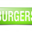 Burgers green square 3d realistic isolated web button — Stock Vector #76915349