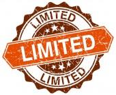 Limited orange round grunge stamp on white — Stock Vector