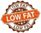 Low fat orange round grunge stamp on white — Stock Vector