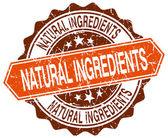 Les ingrédients naturels orange rond timbre grunge sur blanc — Vecteur