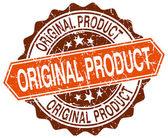 Původní produkt oranžové kolo grunge razítko na bílém pozadí — Stock vektor