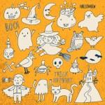 Cute Halloween characters set — Stock Vector #75027371
